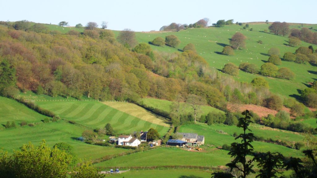 Porth-y-Parc with our two holiday cottages in the Brecon Beacons