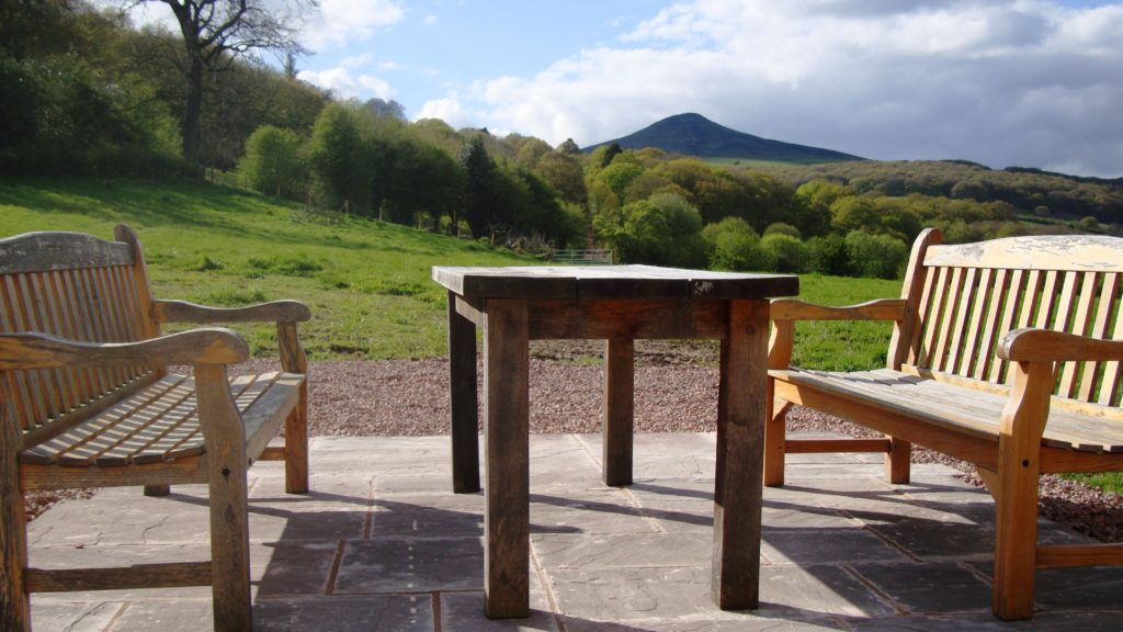 The stunning view from The Old Barn patio